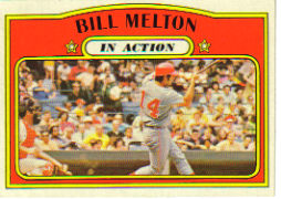 1972 Topps Baseball Cards      184     Bill Melton IA